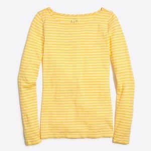 J.Crew Factory Long-Sleeve Striped Artist T-Shirt